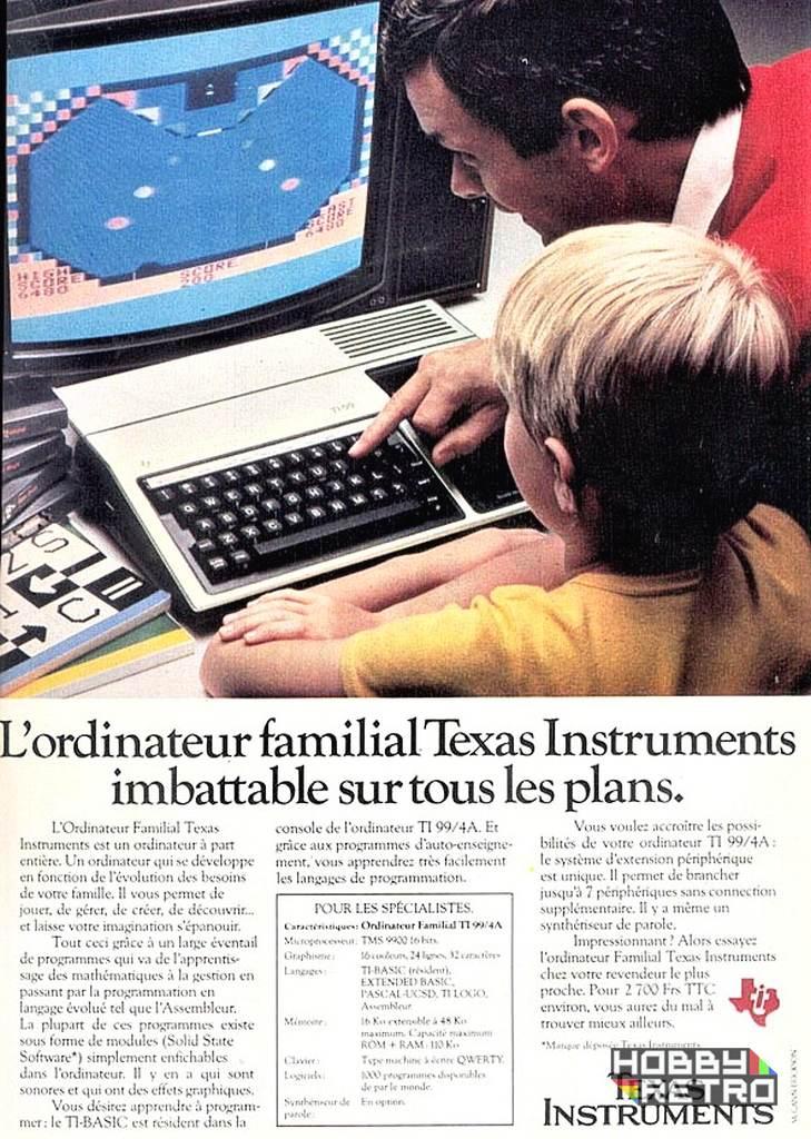 TI 99 4A publicidad hobbyretro 001 Texas Instruments TI-99/4A