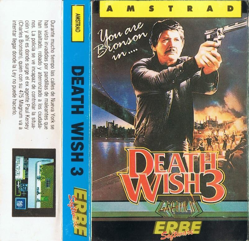 Death Wish 3 Release TAPE ERBE SPANISH Death Wish 3 · Amstrad CPC