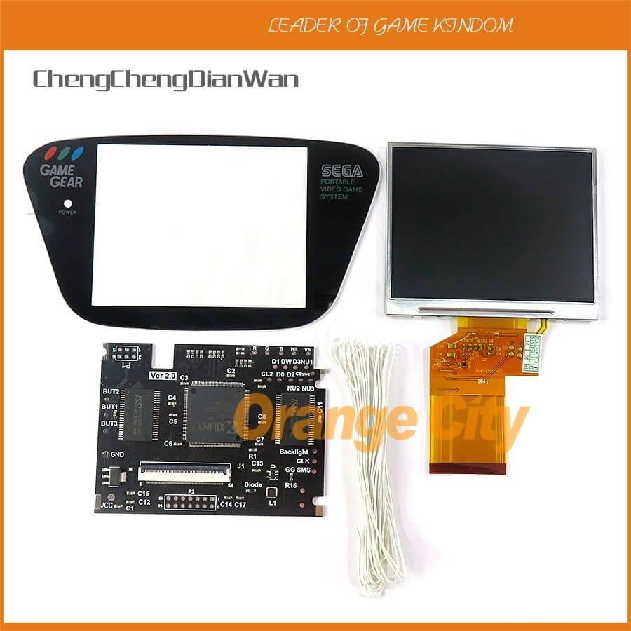 Pantalla lcd para Sega Game Gear screen V2 para SEGA Game Gear GG brillo ajustable compatible Pantalla lcd para Sega Game Gear V2