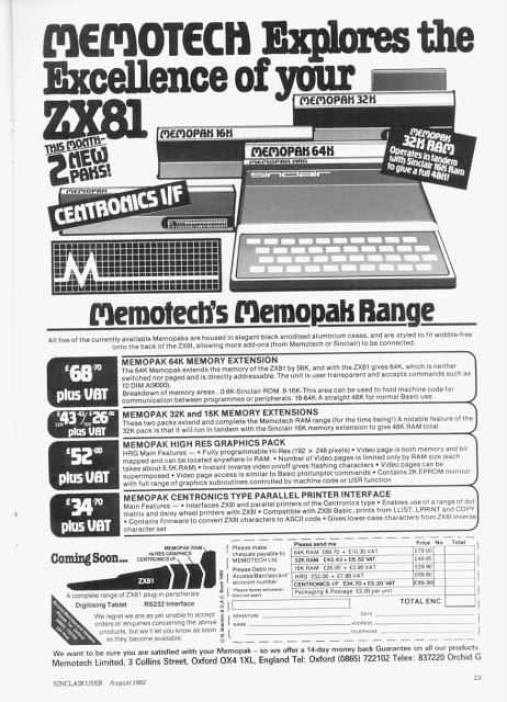 Sinclair ZX81 publicidad 2 Sinclair ZX81