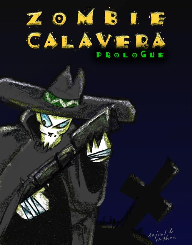 583230 zombie calavera prologue zx spectrum front cover Zombie Calavera Prologue · ZX Spectrum