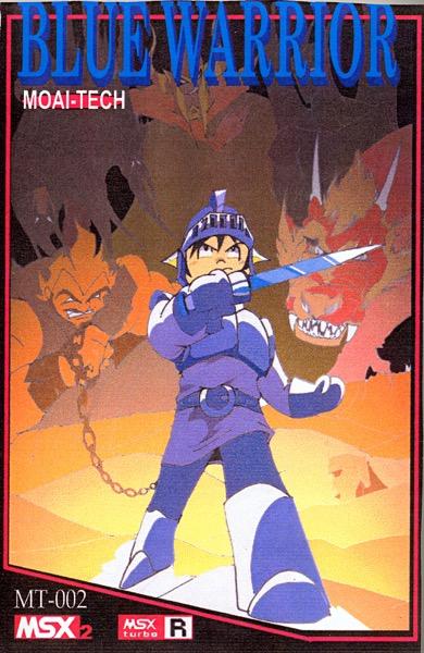 BLUEWARR POR Blue Warrior · MSX