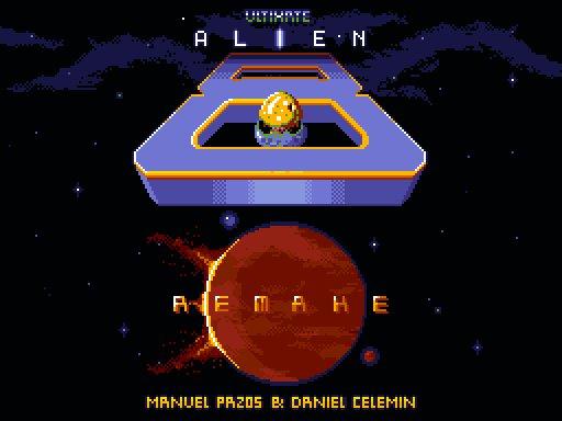 Pantalla presentacion remake Alien 8 para MSX2 Alien 8 · MSX2