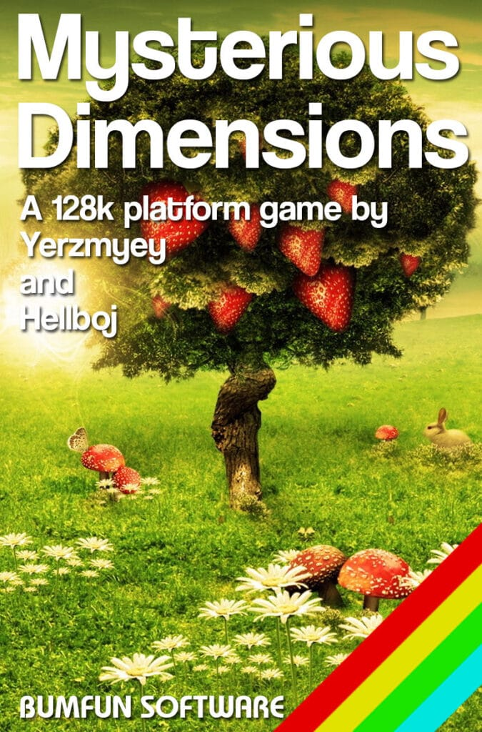 427060 mysterious dimensions zx spectrum front cover Mysterious Dimensions · ZX Spectrum
