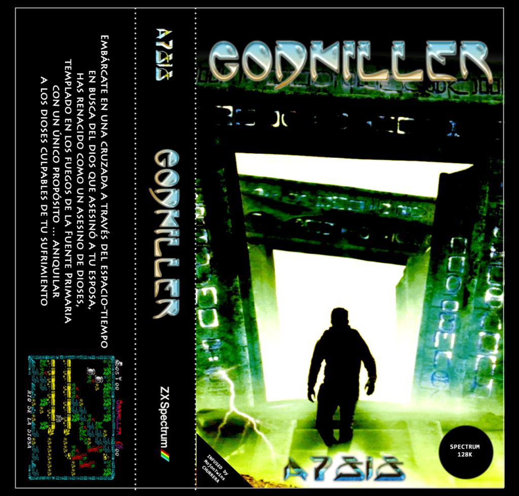Godkiller cassette inlay Godkiller · ZX Spectrum