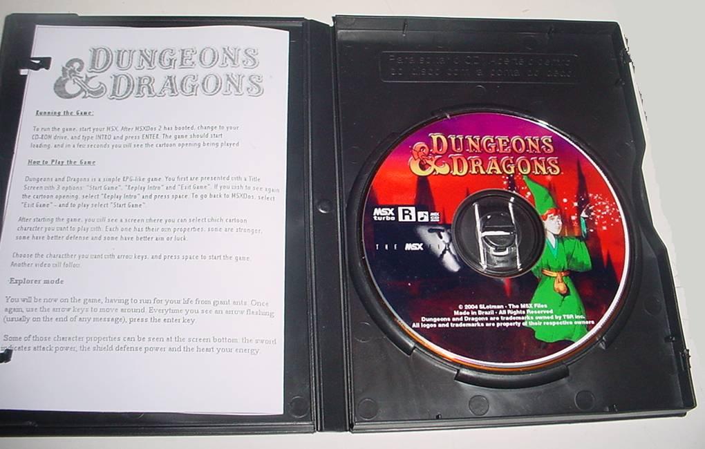 cd inside Dungeons & Dragons · MSX2
