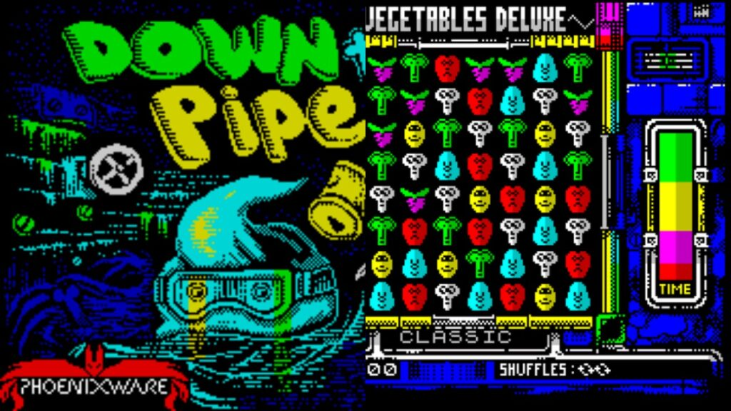 downthepipe vegetables collage Down the Pipe · ZX Spectrum