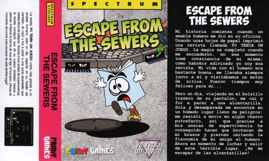 EscapeFromTheSewersMatraComputerAutomations Escape From The Sewers · ZX Spectrum