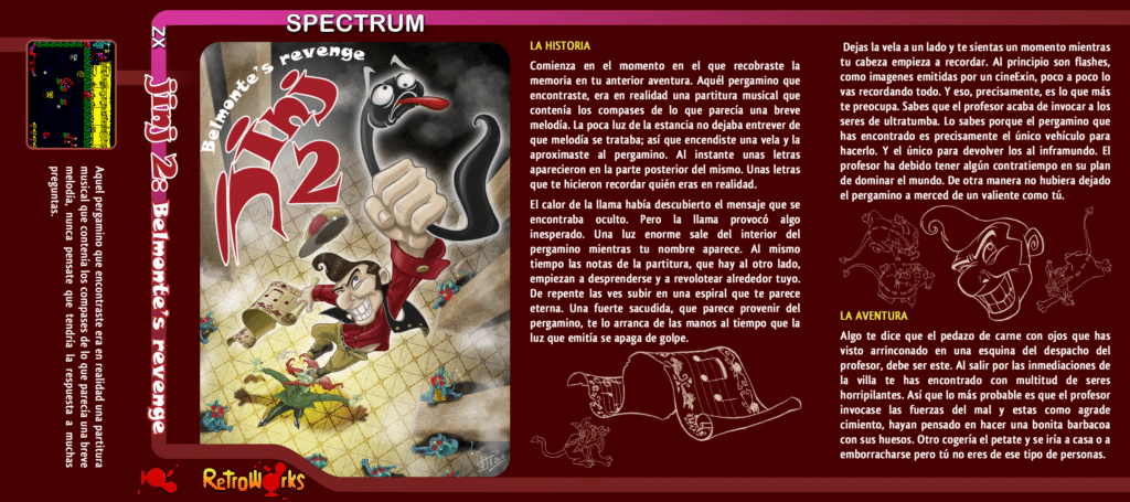 jinj2 cassete frontES Jinj 2 - Belmonte's Revenge · MSX