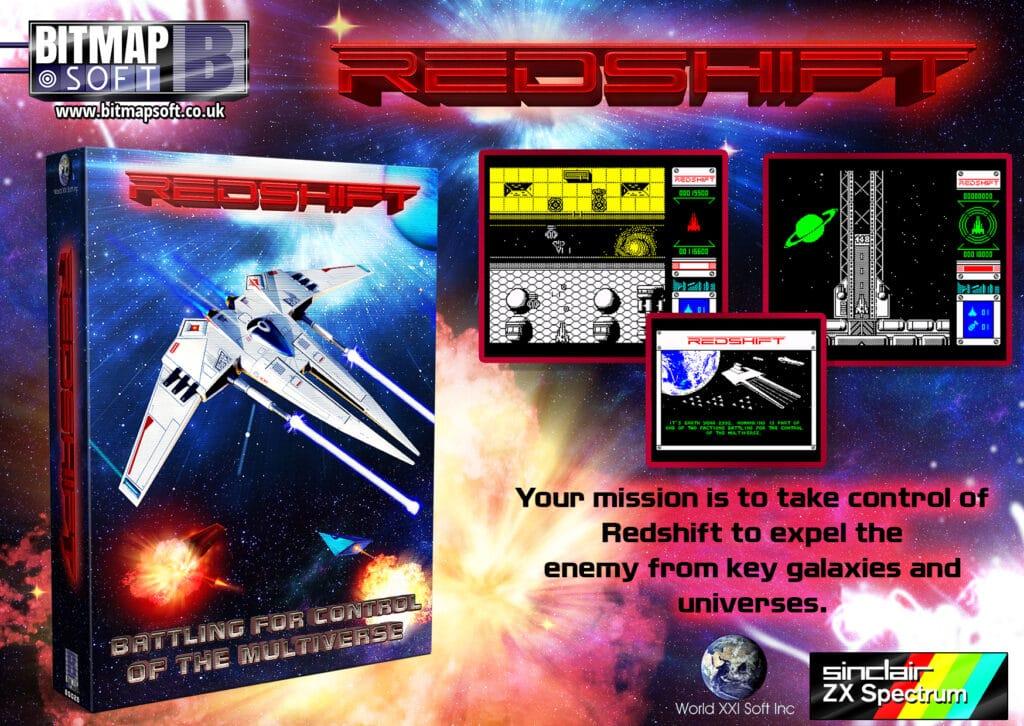 A6 Game Advert PSD 1 Redshift · ZX Spectrum