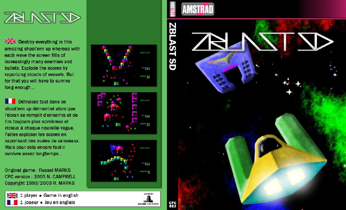 Zblast SD · Amstrad CPC