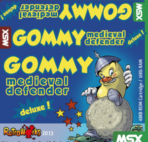 Gommy dm ce msx pegatina Gommy Medieval Defender Deluxe · MSX